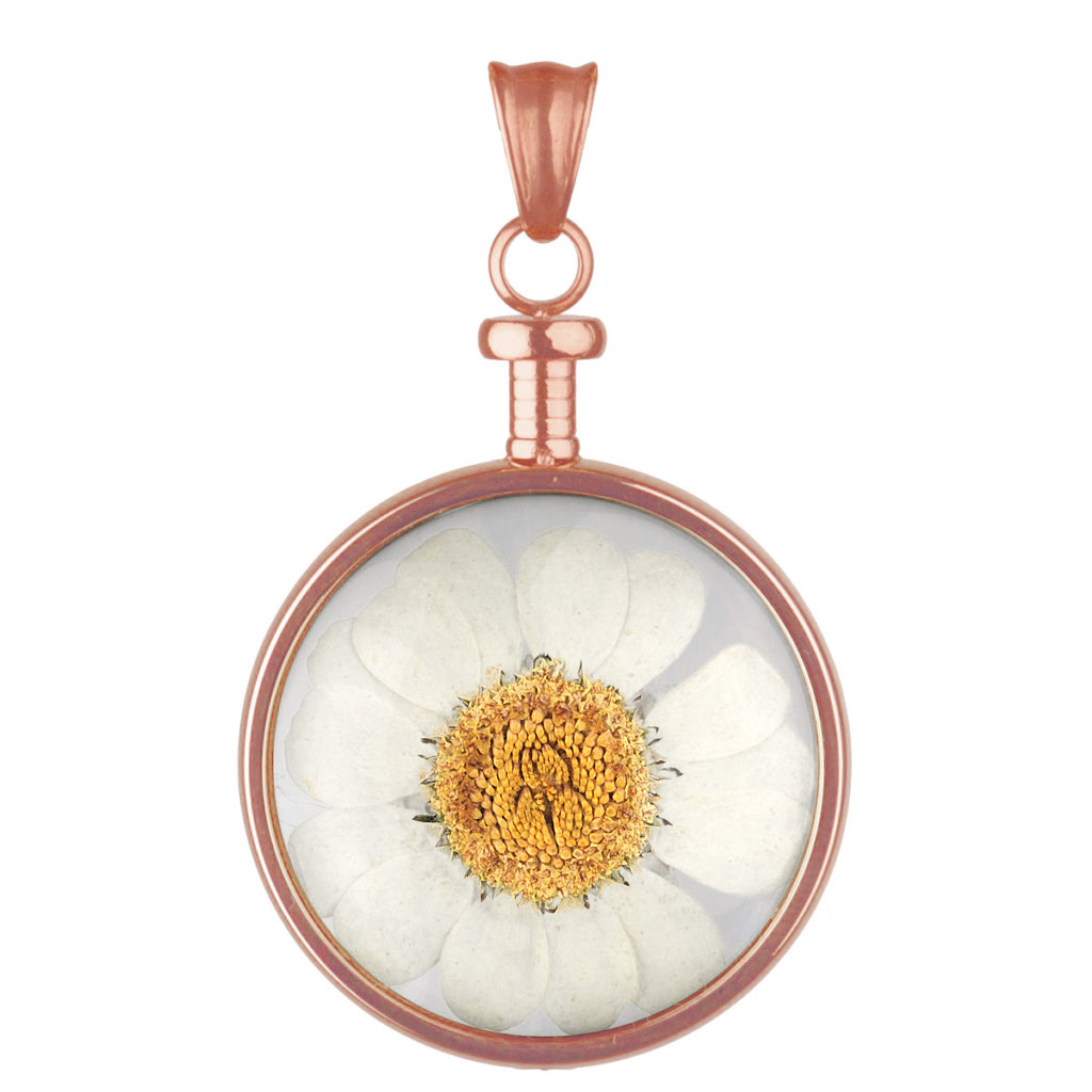 bei Uhrcenter: Blumenkind BL01MROWH Anhänger Blüte roségold/weiß - Schmuck