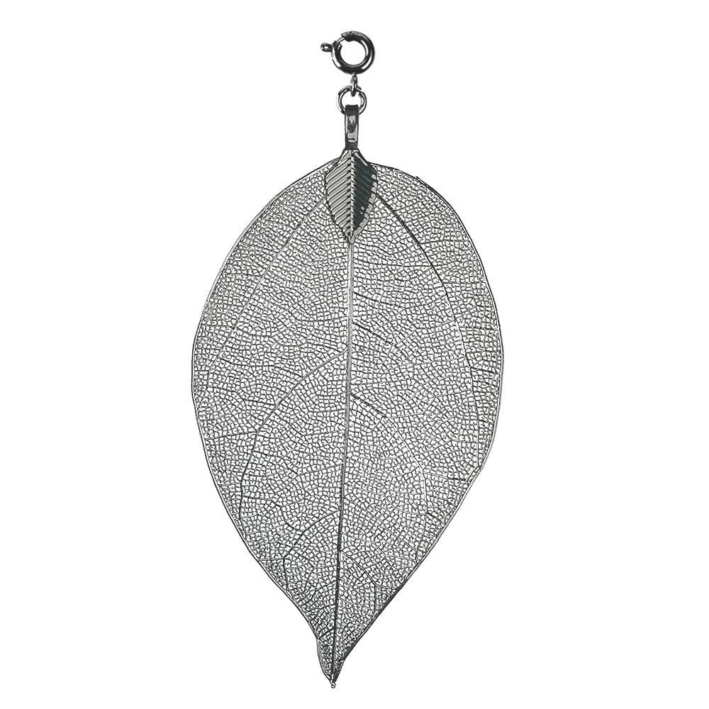 bei Uhrcenter: Blumenkind BL03MGR Damen-Kettenanhänger Blatt Grau M - Schmuck