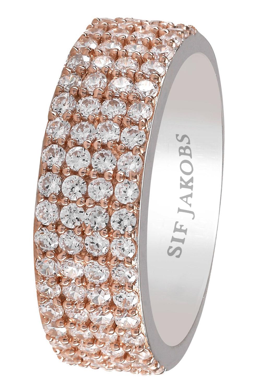 bei Uhrcenter: Sif Jakobs Jewellery SJ-R10764-CZ(RG2) Damenring Corte Quattro Rosé - Schmuck