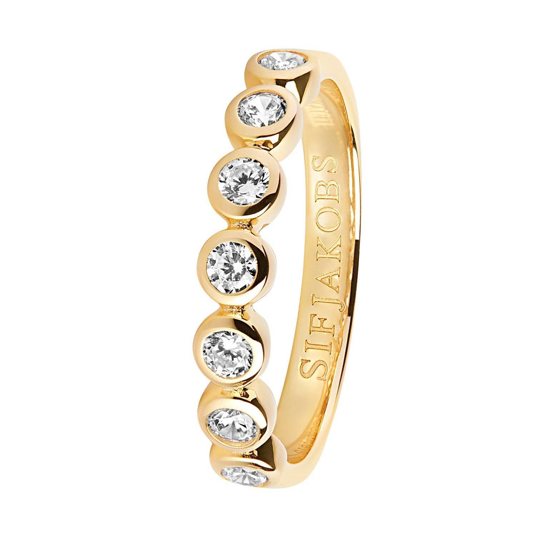 bei Uhrcenter: Sif Jakobs Jewellery SJ-R11186-CZ(YG) Damenring Sardinien Sette Silber Vergoldet - Schmuck