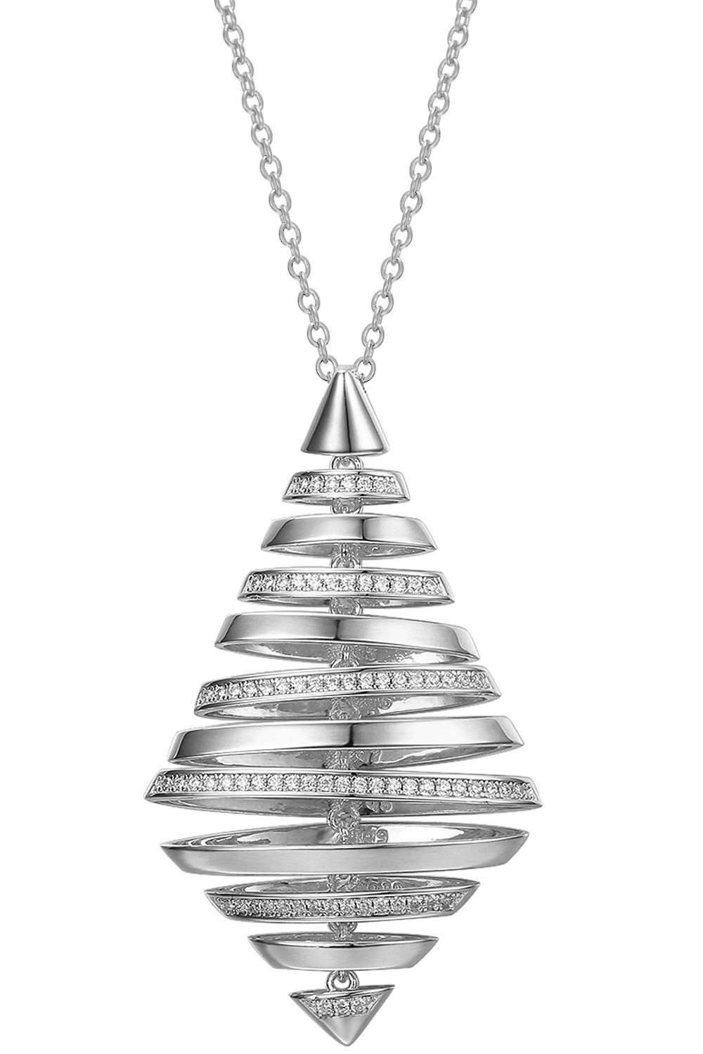 bei Uhrcenter: IUN Silver Couture PS01119A1-WW Collier New Wave Silber 925 Zirkonia - Schmuck