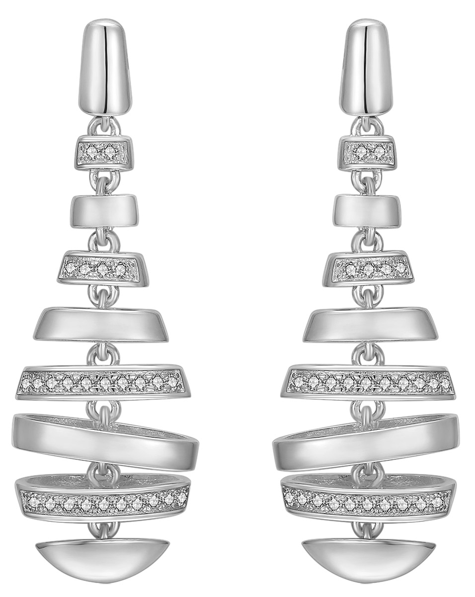 bei Uhrcenter: IUN Silver Couture ES01139A1-WW Ohrringe New Wave Silber 925 - Schmuck