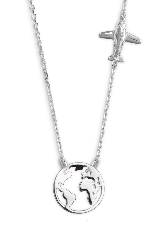 bei Uhrcenter: Xenox XS3161 Damen Silber-Halskette Wanderlust - Schmuck