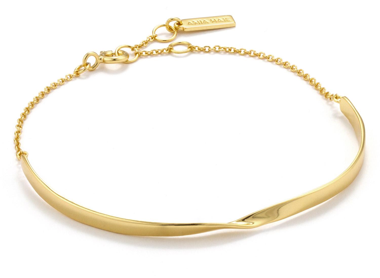 bei Uhrcenter: Ania Haie B012-02G Damenarmband Silber 925 Goldplattiert Twist - Schmuck
