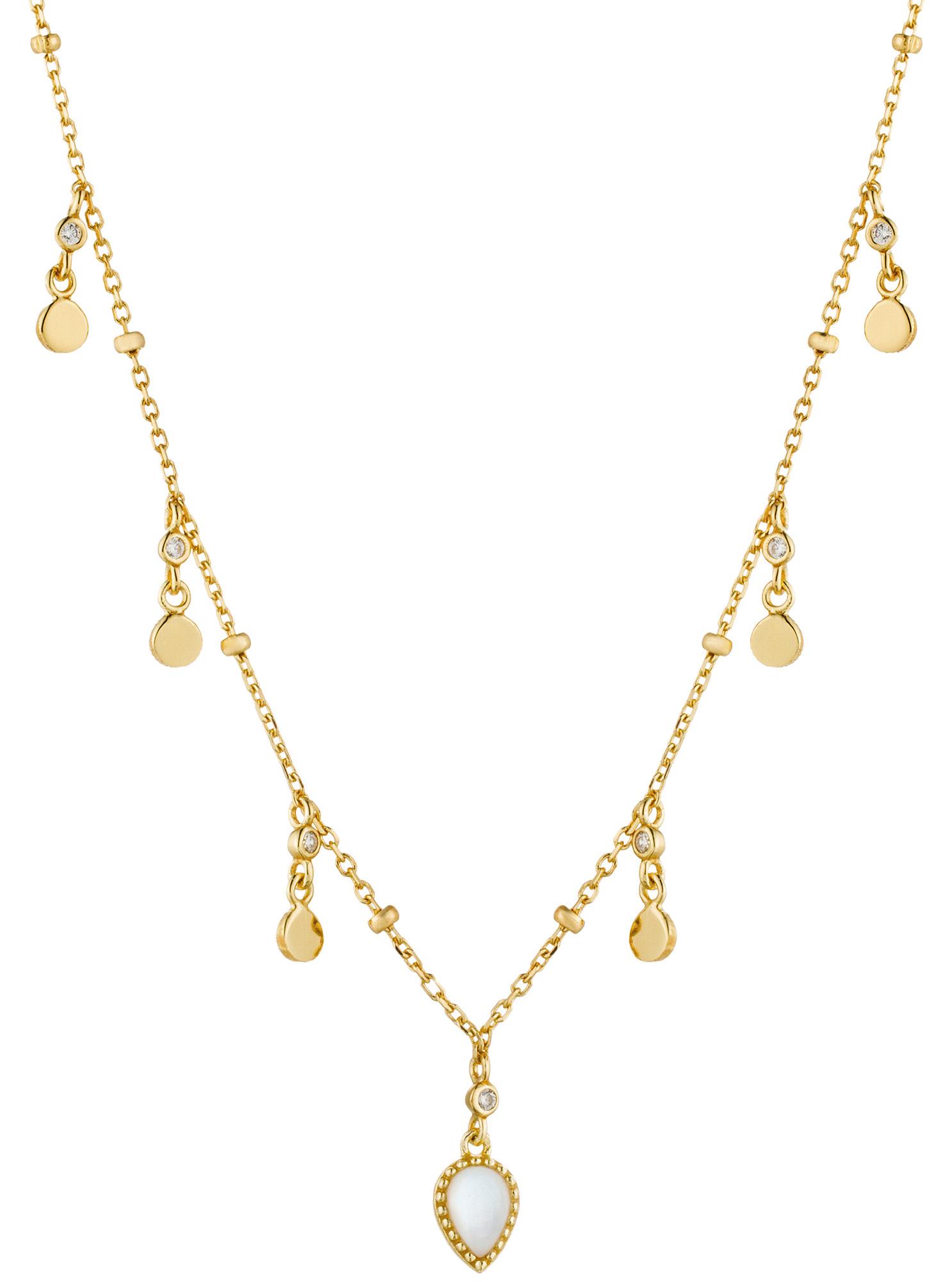 bei Uhrcenter: Ania Haie N016-02G Damen-Halskette Silber Goldplattiert Dream Drop Discs - Schmuck