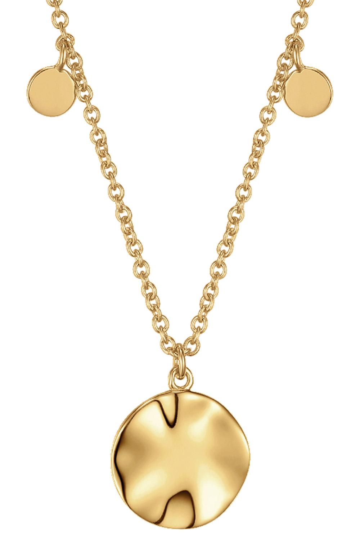 bei Uhrcenter: Ania Haie N007-04G Damen-Halskette Silber Goldplattiert Ripple Drop Discs - Schmuck