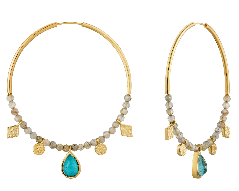 bei Uhrcenter: Ania Haie E014-05G Damen-Ohrringe Turquoise Labradorite - Schmuck