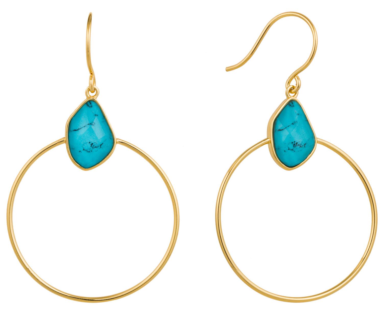 bei Uhrcenter: Ania Haie E014-02G Damen-Ohrringe Turquoise Front - Schmuck