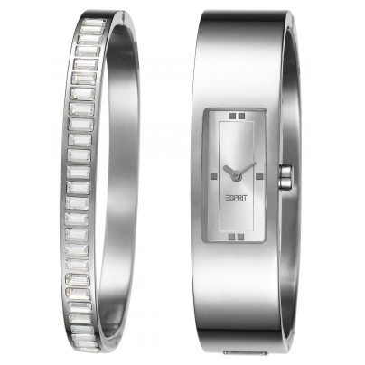 Esprit 105822001 Horizon Silver Ladies Watch And Bangle