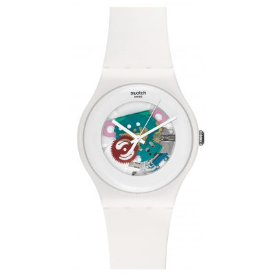 Swatch SUOW100 White Lacquered Armbanduhr