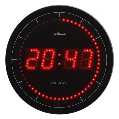 atlanta led horloge murale 4212 ebay. Black Bedroom Furniture Sets. Home Design Ideas