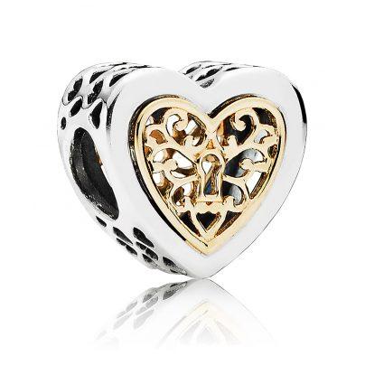 Pandora joyer a amuleto adorno de coraz n 791740 for Pandora jewelry amarillo tx