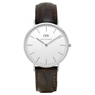 daniel wellington york silver herren uhr 0211dw ebay. Black Bedroom Furniture Sets. Home Design Ideas