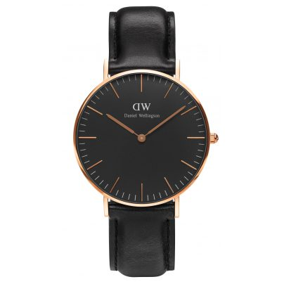 daniel wellington damenuhr sheffield rose gold 36 mm. Black Bedroom Furniture Sets. Home Design Ideas
