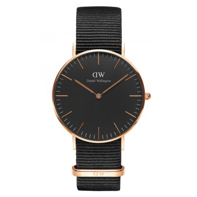 daniel wellington damenuhr cornwall rose gold 36 mm. Black Bedroom Furniture Sets. Home Design Ideas