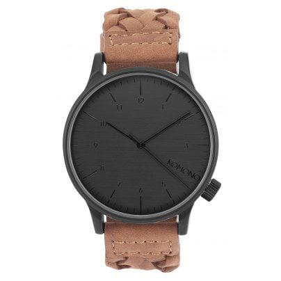 komono uhr winston woven chestnut armbanduhr kom w2031 ebay. Black Bedroom Furniture Sets. Home Design Ideas