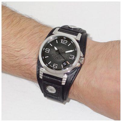 harley davidson herren armbanduhr 76b163 ebay. Black Bedroom Furniture Sets. Home Design Ideas
