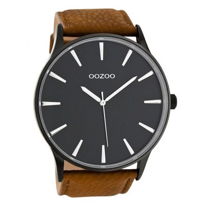 oozoo herren armbanduhr xxl 50 mm braun schwarz c8232 ebay. Black Bedroom Furniture Sets. Home Design Ideas