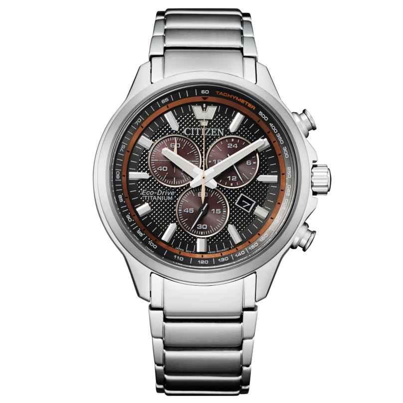 Citizen AT2470-85H Eco-Drive Herren-Chronograph Titan Anthrazit 4974374297150