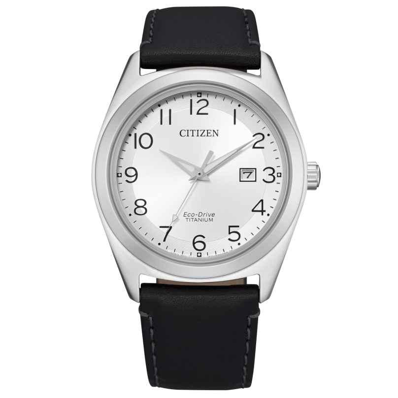 Citizen AW1640-16A Eco-Drive Herrenuhr Titan Silberfarben / Schwarz 4974374296856