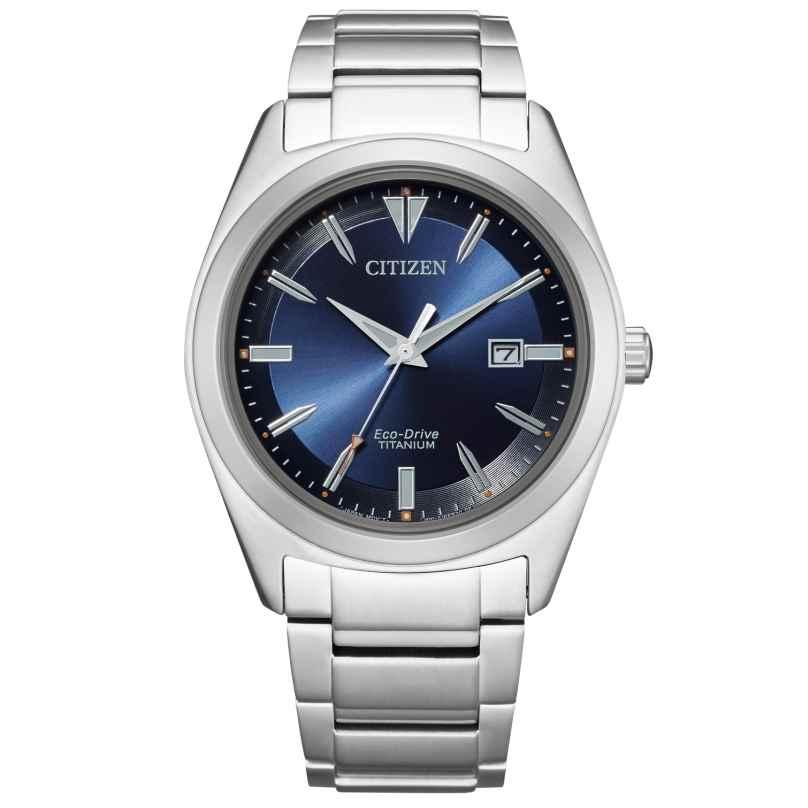 Citizen AW1640-83L Eco-Drive Herren-Armbanduhr Titan Blau 4974374296894