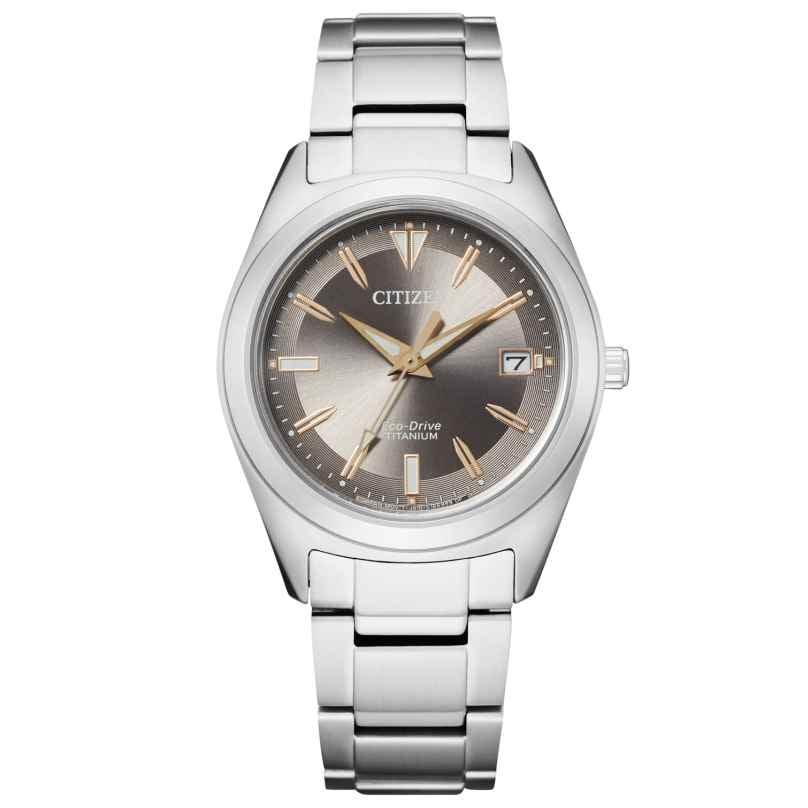 Citizen FE6150-85H Eco-Drive Ladies' Watch Titanium Anthracite 4974374296931