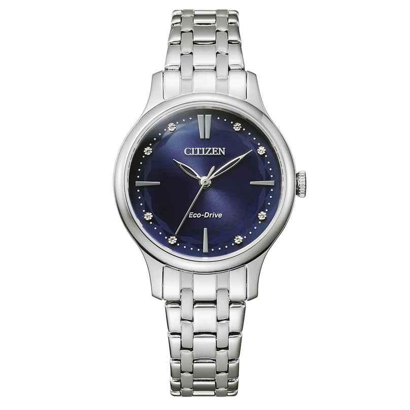 Citizen EM0890-85L Eco-Drive Ladies' Watch Stainless Steel Blue 4974374301819