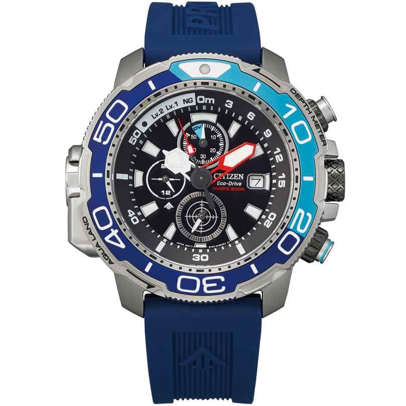 Citizen BJ2169-08E Promaster Marine Herren-Taucheruhr Eco-Drive Blau 4974374298973