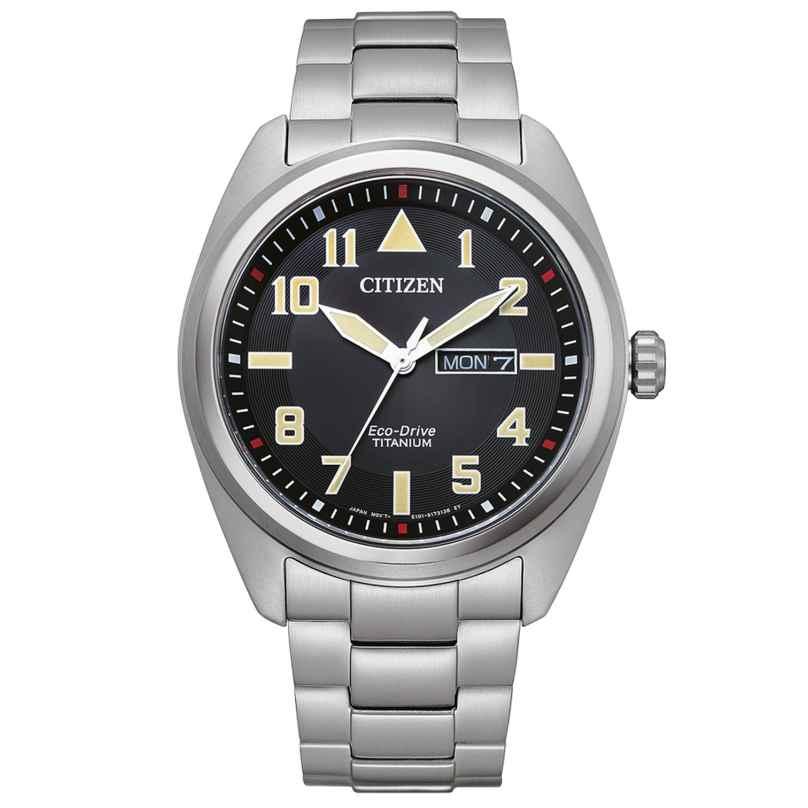 Citizen BM8560-88EE Eco-Drive Herrenuhr Titan Schwarz 4974374305664