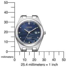 Citizen EW2600-83L Eco-Drive Damen-Armbanduhr Titan Perlmutt Blau