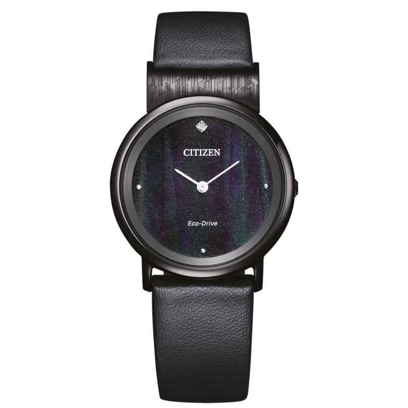 Citizen EG7095-13E Eco-Drive Damen-Armbanduhr Titan Schwarz 4974374306999