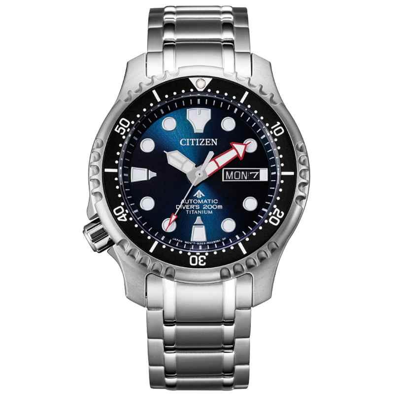 Citizen NY0100-50M Promaster Automatic Diver Men's Watch Titanium Dark Blue 4974374298218