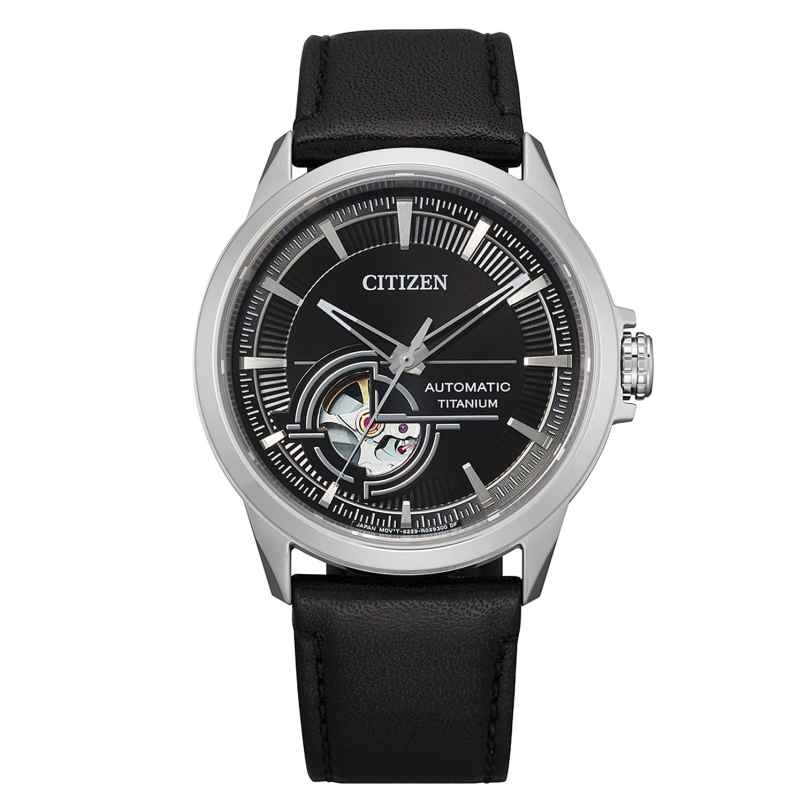 Citizen NH9120-11E Herren-Automatikuhr Titan Lederband 4974374299536