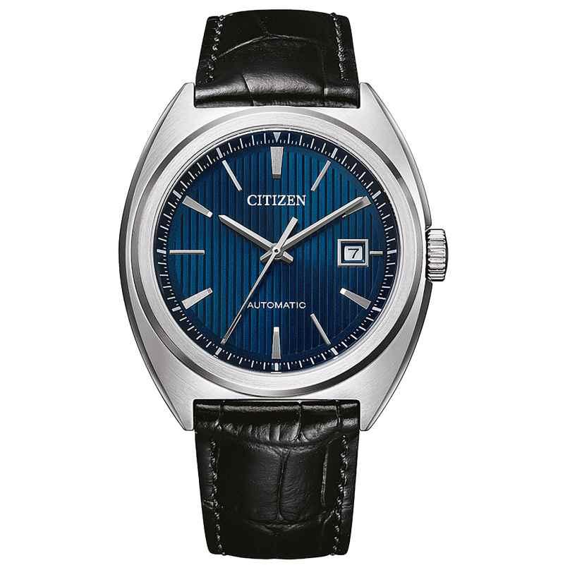 Citizen NJ0100-46L Automatik Herrenuhr Schwarz/Blau 4974374304605