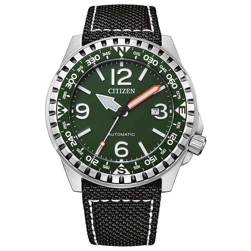 Citizen NJ2198-16X Herren-Armbanduhr Automatik Schwarz/Grün 4974374304377