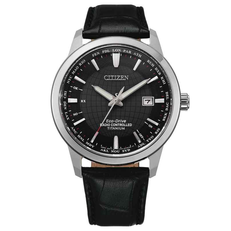 Citizen CB0190-17E Eco-Drive Herren-Funkuhr Titan Schwarz 4974374295941