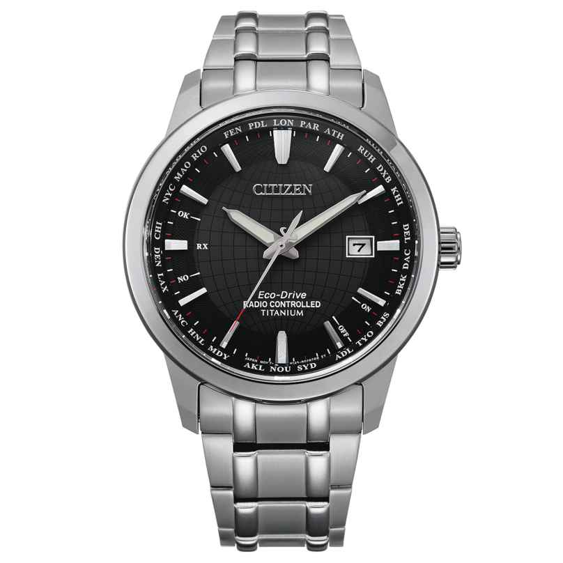 Citizen CB0190-84E Eco-Drive Funkuhr für Herren Titan Schwarz 4974374295958
