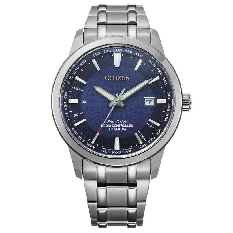 Citizen CB0190-84L Eco-Drive Funk-Armbanduhr für Herren Titan Blau 4974374295965