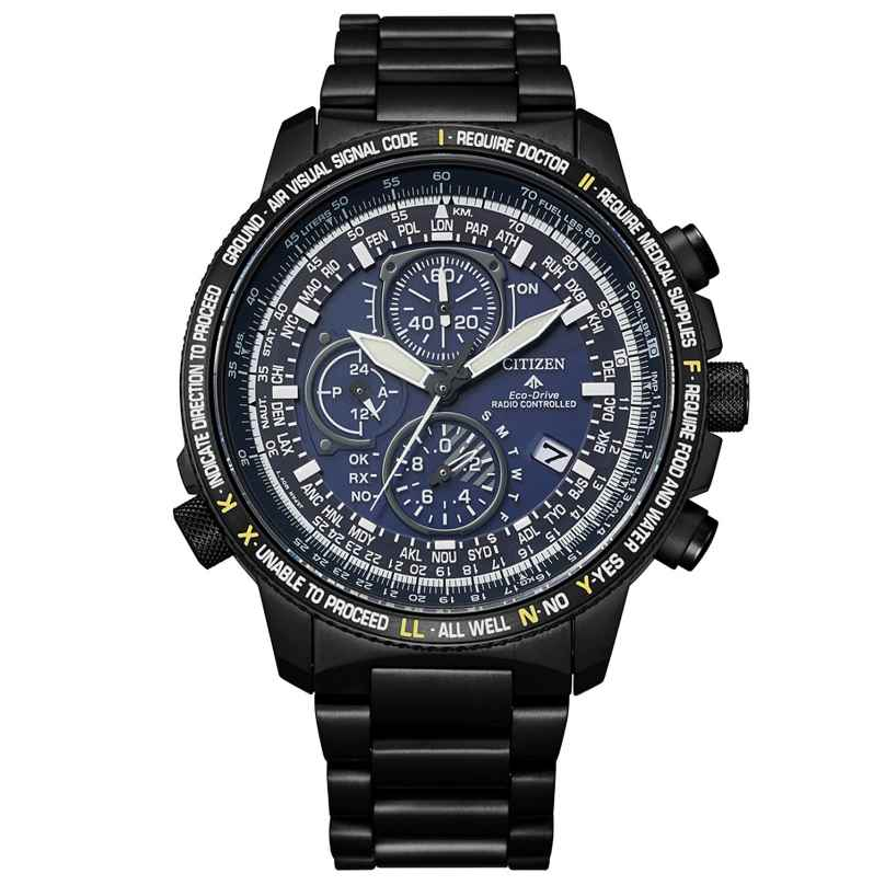 Citizen AT8195-85L Eco-Drive Promaster Sky Herren-Chronograph Titan Anthrazit 4974374300621