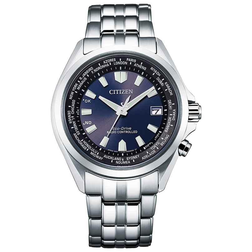 Citizen CB0220-85L Eco-Drive Funk-Herrenuhr Stahl/Blau 4974374300454
