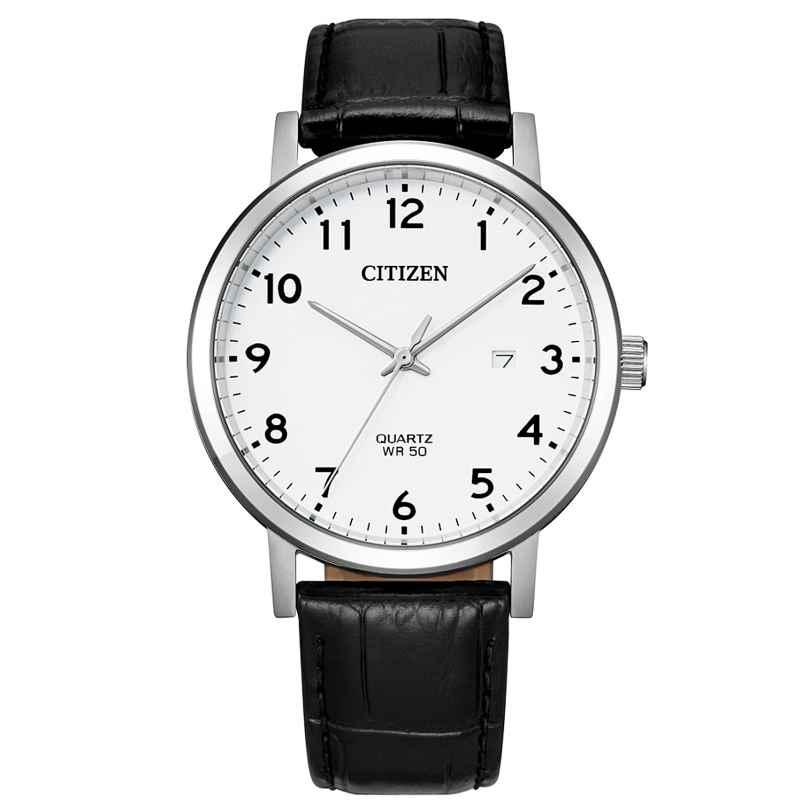Citizen BI5070-06A Quarz Herrenuhr mit schwarzem Lederband 4974374302472