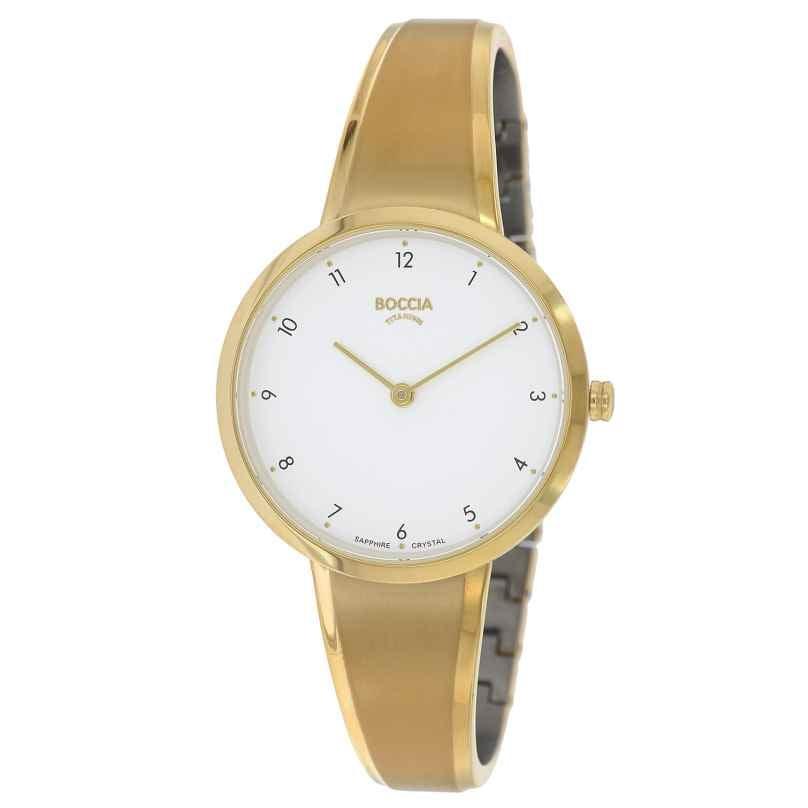 Boccia 3325-03 Women's Watch Titanium with Sapphire Crystal Gold Tone 4040066262802