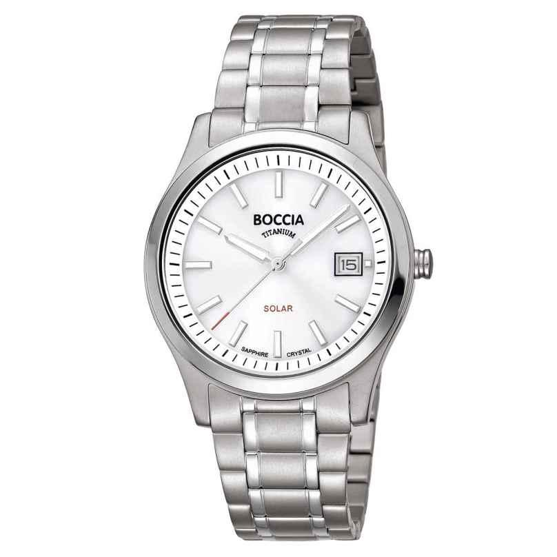 Boccia 3326-01 Damen Solar-Armbanduhr Titan mit Saphirglas 4040066262826