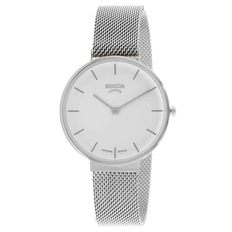 Boccia 3327-09 Damen-Armbanduhr Titan mit Saphirglas 4040066266312