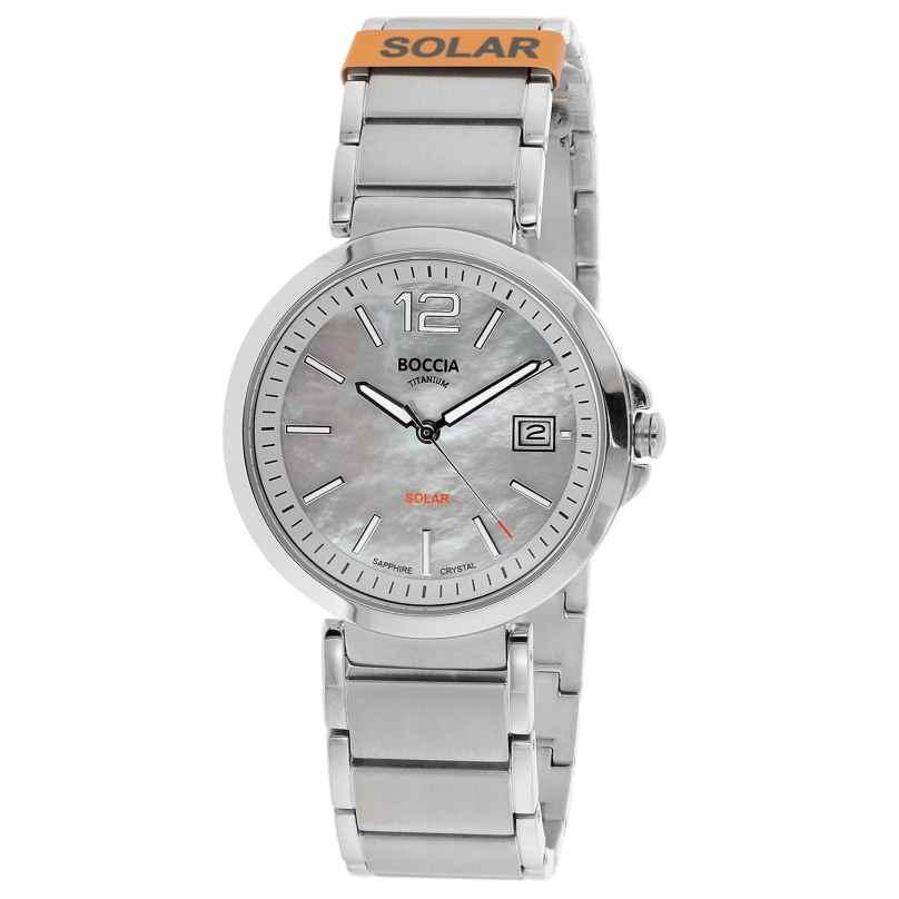 Boccia 3332-01 Damen Solar-Armbanduhr Titan mit Saphirglas 4040066266459