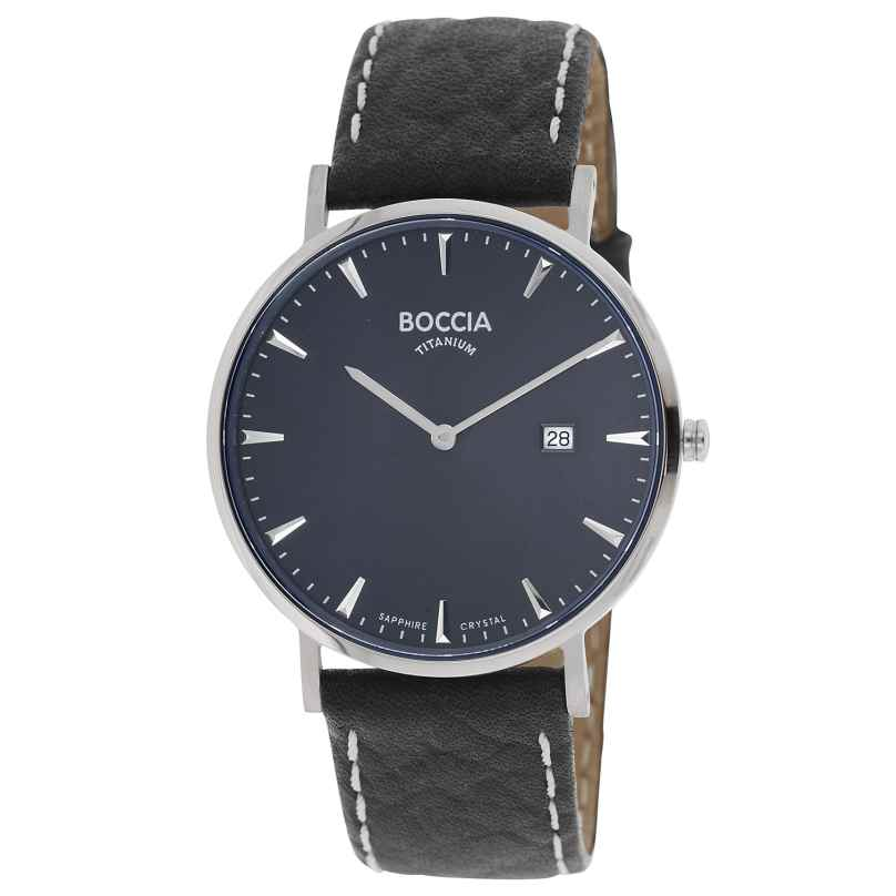 Boccia 3648-02 Herrenuhr Titan Schwarz/Dunkelblau 4040066262680