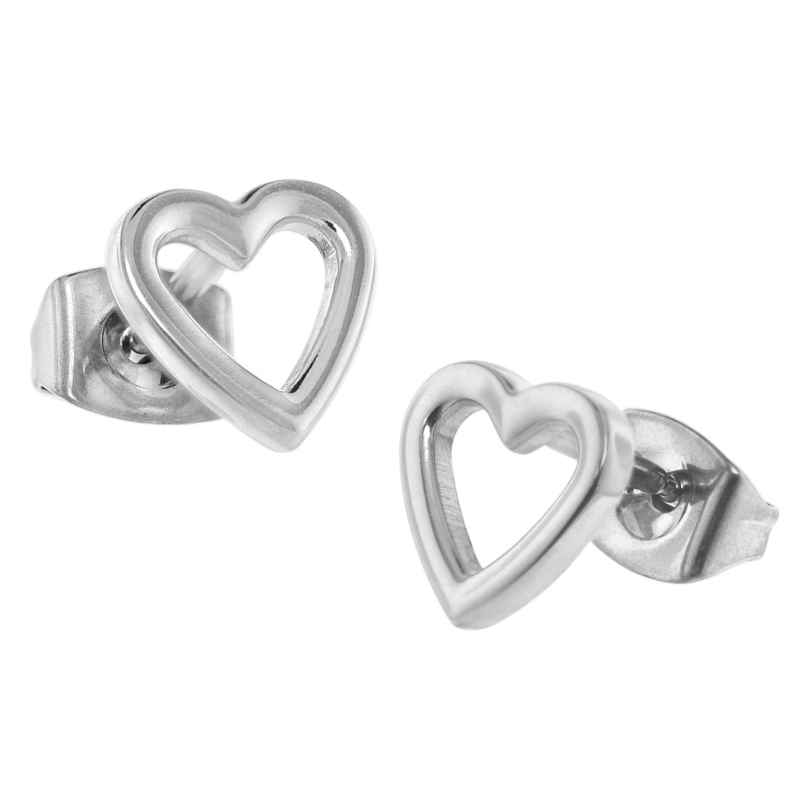 Boccia 05029-01 Titanium Stud Earrings Heart 4040066249728