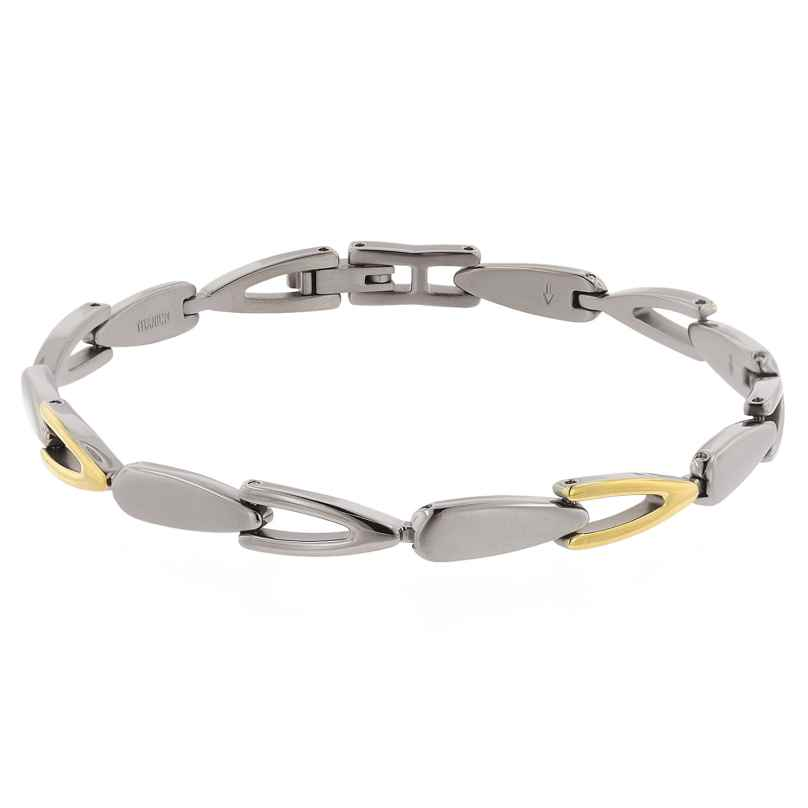 Boccia 03033-02 Titanium Ladies Bracelet Two-Colour Gold 4040066259369