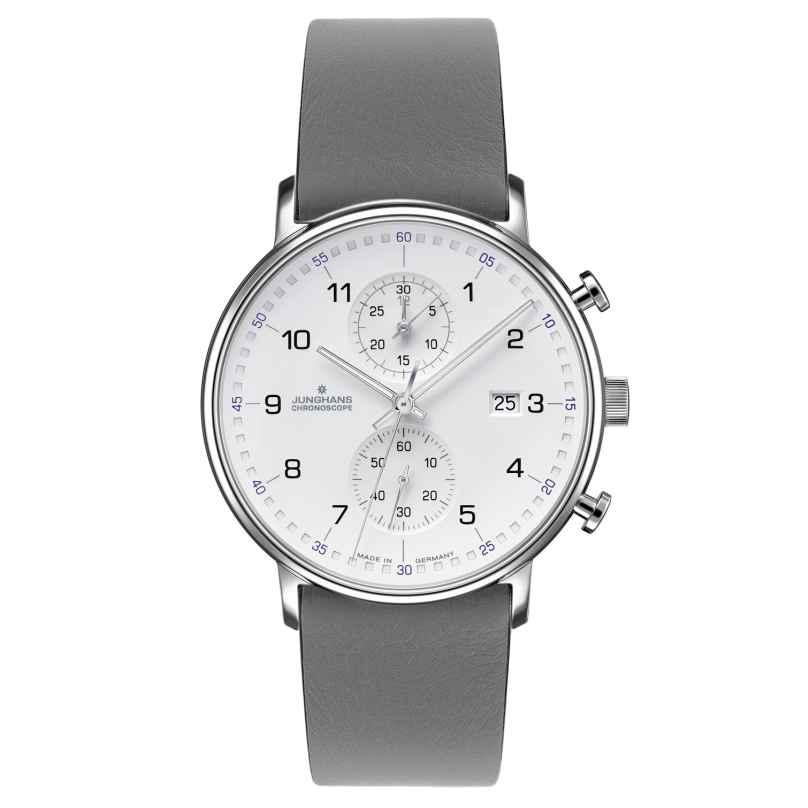 Junghans 041/477-Grau Herren-Armbanduhr Chronoscope Form C 4260497089032