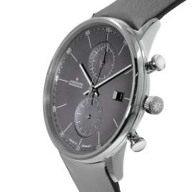 Junghans 041/487-Grau Men's Wristwatch Chronoscope Form C